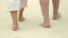 Barefoot in the sand Stock Footage