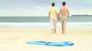 Stock Video Footage of Couple walking on the beach