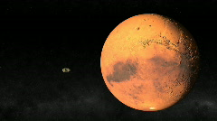 Passing Mars 1080 Stock Footage