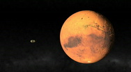 Stock Video Footage of Passing Mars 1080