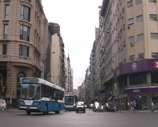 City Traffic (Buenos Aires) Stock Footage