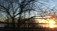 Stock Video Footage of Driving near frozen sea at sunset 1 Part A