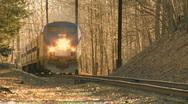 Train coming toward camera Stock Footage