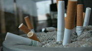 Smoker and cigarettes part one Stock Footage