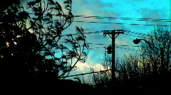 (beautifully imperfect) turqouise powerlines Stock Footage