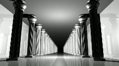 Greek columns (CGI)gclm Stock Footage