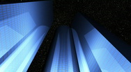 Stock Video Footage of Night glass Buildings Advanced reflection(Final)