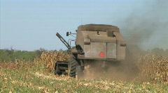 Combine Harvesting Corn 03 Stock Footage