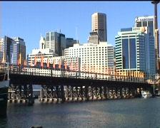 Pyrmont Bridge and Monorail (Sydney), 2 shots Stock Footage