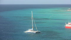 Catamaran in the Caribbean Stock Footage