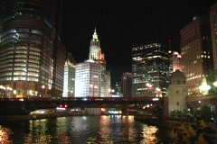 Chicago City Lights Stock Footage