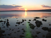 Sunset over sea water Stock Footage
