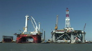Stock Video Footage of oil rig