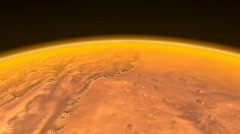 Mars low altitude-fly-over- 720p- - stock footage
