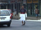 Stock Video Footage of Traffic policeman on Fiji Islands