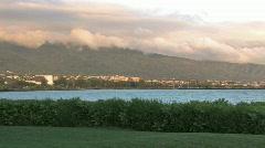 Maui Kahulia Bay sunrise with cruise ship HD Stock Footage