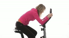 Montage footage of Woman Working out in Gym Stock Footage