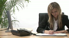 Busineswoman working in office Stock Footage