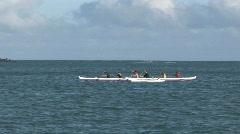 Maui Kahulia outrigger padding HD Stock Footage
