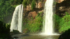 HD: Twin waterfall Stock Footage