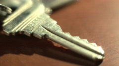 House Key Teeth Close Up Stock Footage