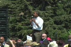 Barack Obama (Bush and Cheny) Stock Footage