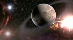 Alien planet (foreign space) Stock Footage