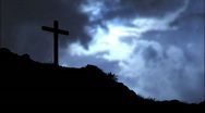 Cross and Clouds Stock Footage
