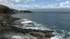 Maui ocean rocky shore waves HD Stock Footage