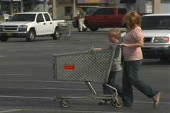 Woman and Child Shopping Stock Footage