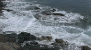Maui rocky shore waves close HD Stock Footage