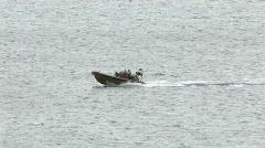 Maui Hawaii boat in ocean whale watching HD Stock Footage