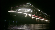 Stock Video Footage of Cruise ship at night