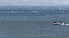Maui Hawaii catamaran crossing ocean HD Stock Footage