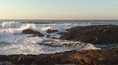 Agitated sea waves against rocks Stock Footage