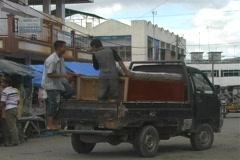 Street scene in Langsa, Aceh - stock footage
