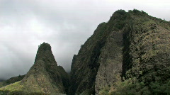 Maui Iao Valley Needle clouds TL HD Stock Footage