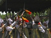 Young boys in tradional Balinese dance Stock Footage
