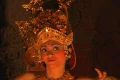 Three girls in traditional Balinese Dance - stock footage