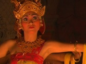 Three girls in traditional Balinese Dance Stock Footage
