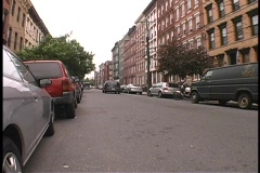 City Street Apartments - stock footage