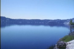 Crater Lake Boats Super8 Stock Footage