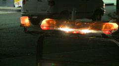 Emergency tow truck lights at night Stock Footage