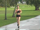 Stock Video Footage of Beautiful Woman Jogging (1)