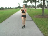 Stock Video Footage of Beautiful Brunette Jogging (4)