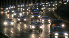 Highway travel at night (10 of 15) Stock Footage