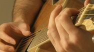 Stock Video Footage of The senses: white male 30's (17 of 17) guitar player