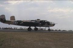 Vintage military airplane bomber B-21  Stock Footage