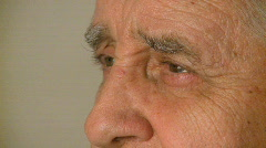 The Human Face - Male 70's - (5 of 10) - stock footage