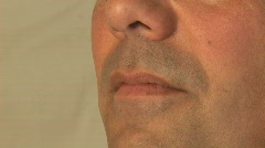 The Human Face - Male 40's - (2 of 5) - stock footage